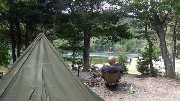 京都の秘境野営地〜沢の池〜軍幕ソロキャンプ